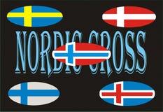 Flagge mit 5 Nordic Stockbilder