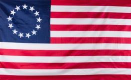 Flagge mit 13 Sternen für die ursprünglichen Kolonien von Amerika Lizenzfreies Stockfoto