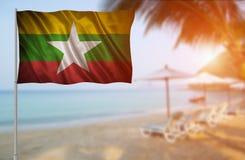 Flagge Myanmars Stockfoto