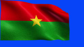 Flagge nahtloser SCHLEIFE Burkina Faso s stock video