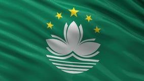 Flagge nahtloser Schleife Macaos Stockbilder