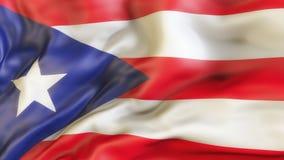 Flagge, Puerto Rico, Flagge von Puerto Rico aufgebend Lizenzfreies Stockfoto