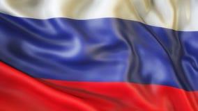 Flagge, Russland, Flagge von Russland aufgebend Stockfoto
