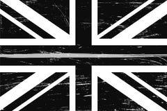Flagge Schmutz-Vereinigten Königreichs mit einer dünnen grauen oder silbernen Linie lizenzfreie abbildung