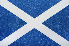 Flagge Schottland. The ensign of scotland made of twinkling glittermaterial royalty free stock images