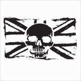 Flagge SkullFlag-Schädel-Vektorillustration für verschiedenen Entwurfsbedarf stockfotos