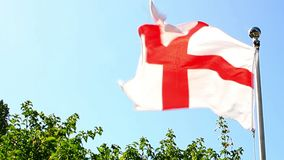 Flagge St. George Cross von England stock video footage