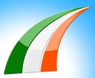 Flagge streift Durchschnitte nationale Nation und Irland Lizenzfreies Stockfoto