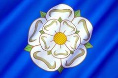 Flagge und Symbol von Yorkshire - Vereinigtem Königreich lizenzfreies stockbild