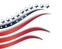 Flagge USA-Hintergrundschablone Stockbilder