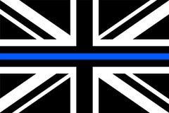 Flagge a Vereinigten Königreichs mit dünner blauer Linie lizenzfreie abbildung