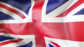 Flagge, Vereinigtes Königreich, Flagge von illu Vereinigten Königreichs aufgebend Stockfotografie