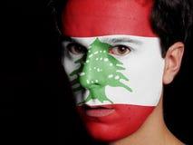 Flagge vom Libanon Stockfoto