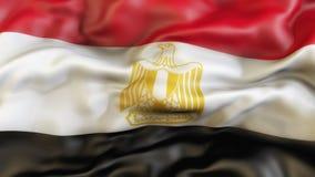 Flagge, Flagge von Ägypten aufgebend, Illustration Lizenzfreie Stockfotos