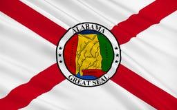 Flagge von Alabama, USA stockfotografie