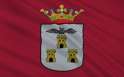 Flagge von Albacete ist ein Stadt und Stadtbezirk Spanisch des auton stockfoto