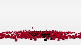 Flagge von Albanien schuf von den Würfeln 3d in der Zeitlupe stock footage