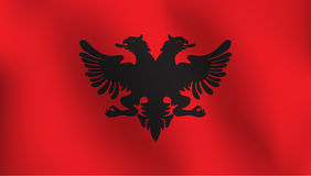 Flagge von Albanien - Vektor-Illustration Lizenzfreie Stockfotos