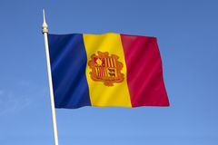Flagge von Andorra Stockfoto