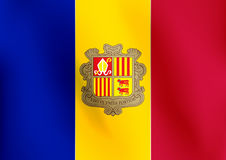 Flagge von Andorra - Vektor-Illustration Stockfoto