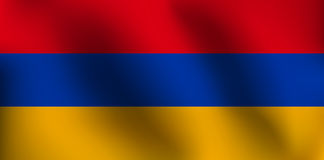 Flagge von Armenien - Vektor-Illustration Lizenzfreies Stockfoto