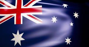 Flagge von Australien im Wind 4K stock abbildung