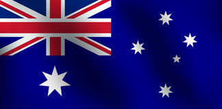 Flagge von Australien - Vektor-Illustration Stockfoto