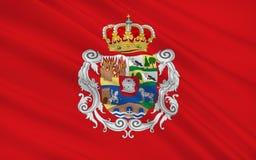 Flagge von Avila ist eine Provinz von zentral-West-Spanien vektor abbildung
