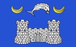 Flagge von Avranches, Frankreich lizenzfreie abbildung