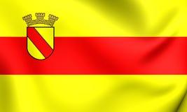 Flagge von Baden-Baden City, Deutschland Stockfotos