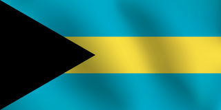 Flagge von Bahamas - Vektor-Illustration Stockfotografie