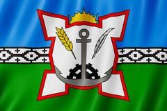 Flagge von Bahia Blanca-Stadt, Argentinien Lizenzfreie Stockfotografie