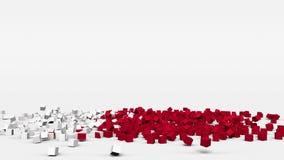Flagge von Bahrain schuf von den Würfeln 3d in der Zeitlupe stock video footage