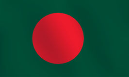 Flagge von Bangladesch - Vektor-Illustration Stockfotografie