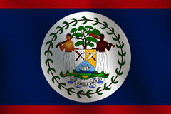 Flagge von Belize - Vektor-Illustration Lizenzfreie Stockfotos