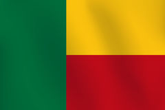 Flagge von Benin - Vektor-Illustration Lizenzfreie Stockfotos