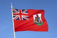 Flagge von Bermuda - das Karibische Meer Stockfoto