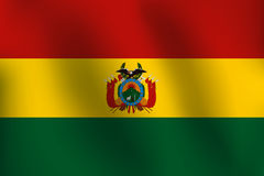 Flagge von Bolivien - Vektor-Illustration Stockbild