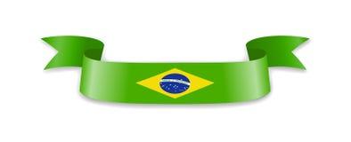 Flagge von Brasilien in Form von Wellenband Lizenzfreie Abbildung