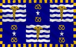 Flagge von Brisbane ist die Hauptstadt von Queensland in Australien stockfoto