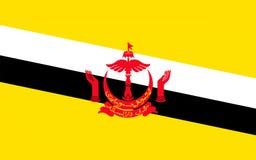 Flagge von Brunei lizenzfreie abbildung