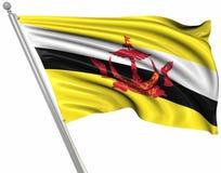 Flagge von Brunei vektor abbildung