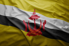 Flagge von Brunei Stockfotos