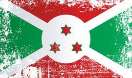 Flagge von Burundi, Afrika Geknitterte schmutzige Stellen stock abbildung
