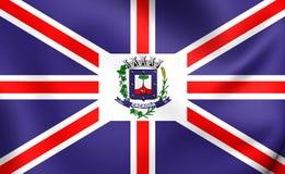 Flagge von Cacador, Brasilien Lizenzfreie Stockfotografie