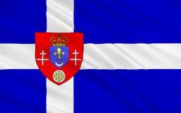 Flagge von Calais, Frankreich lizenzfreies stockfoto