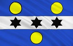 Flagge von Cherbourg-Octeville, Frankreich vektor abbildung