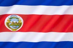 Flagge von Costa Rica lizenzfreie stockfotografie