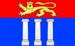 Flagge von Coutances, Frankreich vektor abbildung