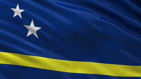 Flagge von Curaçao - nahtlose Schleife stock footage